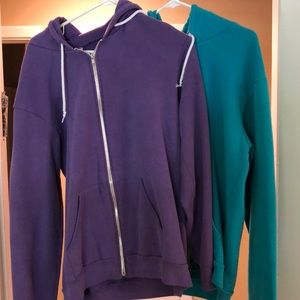 American Apparel Zip Up Hoodies
